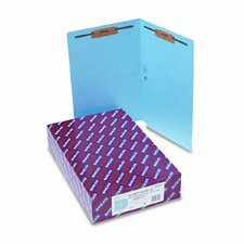 Straight Tab Two-Inch Capacity Fastener Folders, Legal, 50/Box