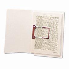 Straight Tab U-Clip File Folders, 50/Box