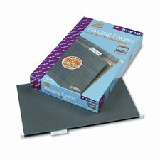11 Point Stock Hanging Folders, 1/5 Tab, Legal, 25/Box