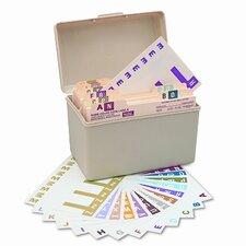 Alpha-Z Color-Coded First Letter Combo Alpha Labels Starter Set, 1500/Box