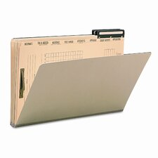 Pressboard Mortgage File Folder with Dividers & Metal Tab, 10/Box