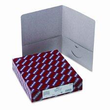 Two-Pocket Portfolio, Embossed Leather Grain Heavy Paper, 25/Box