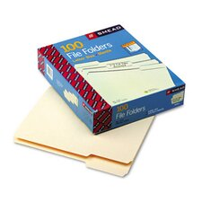 <strong>Smead Manufacturing Company</strong> 1/3 Cut Assorted One-Ply Top Tab File Folders, 100/Box