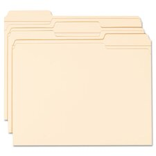 <strong>Smead Manufacturing Company</strong> 1/3 Cut Assorted Reinforced Top Tab File Folder, 100/Box
