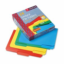 Waterproof Poly File Folders, 1/3 Cut Top Tab, 24/Box