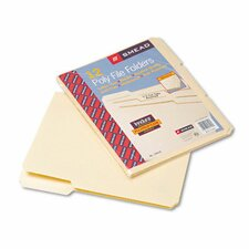 Tear/Moisture-Resist Poly File Folders, 12/Pack
