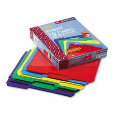 Slash Pocket Poly File Folders, 30/Box