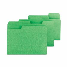 Supertab File Folders, 1/3 Cut, Letter, 100/Box