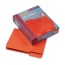<strong>Smead Manufacturing Company</strong> 1/3 Cut Top Tab File Folders, Letter, 100/Box