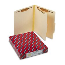 Manila Classification Folders w/2/5 Right Tab, Letter, 4-Section, 10/box