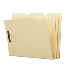 Two Fasteners 1/3 Cut Third Position Top Tab Folder, 50/Box