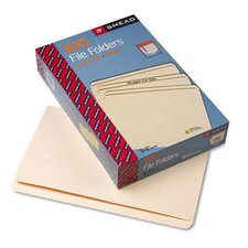 Straight Cut One-Ply Top Tab File Folders, 100/Box