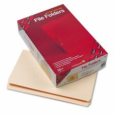 Straight Cut File Folders, Reinforced Top Tab, Legal, 100/Box