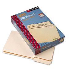 File Folders, 1/3 Cut Assorted Positions, 1-Ply Top Tab, Legal, Manila, 100/Box