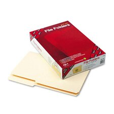 Guide Ht File Folder, 2/5 Cut Rt of Center, 1-Ply Top Tab, Legal, MLA, 100/Box