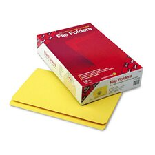 Straight Cut File Folders, 100/Box