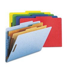 <strong>Smead Manufacturing Company</strong> Six-Section Pressboard Classification Folders, Legal, 10/Box