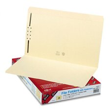 One Fastener Straight Cut Top Tab Folders, 50/Box