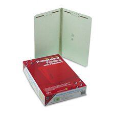 Straight Tab Fastener Folder, 25/Box