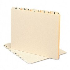 Alpha Recycled Top Tab File Guides, 1/5 Tab, 25/Set