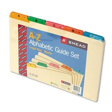 Alpha Recycled Top Tab Guides, 25/Set