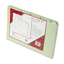 Pressboard Daily Recycled Top Tab Guides, 31/Set
