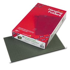 Untabbed 11 Point Stock Hanging File Folders, 25/Box