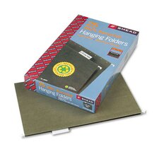 11 Point Stock Recycled Hanging File Folders, 25/Box