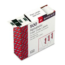 A-Z Color-Coded Bar-Style End Tab Labels, Letter N, Dk Green, 500/Roll
