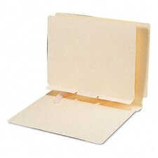 Manila Self-Adhesive Folder Dividers with Prepunched Slits, 100/Box