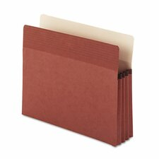 """Easy Grip Pocket, Redrope, Letter, 1 3/4"""" Expansion, 25/Box"""