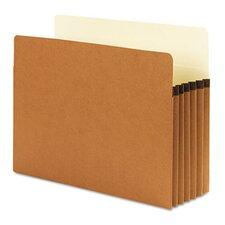 "SuperTab Pocket, Redrope, 5 1/4"" Expansion, Letter, 10/Box"