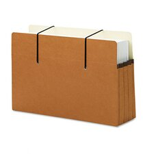 """Secure Pocket, Redrope, 3 1/2"""" Expansion, Legal Size, 25/Box"""