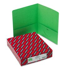<strong>Smead Manufacturing Company</strong> Two-Pocket Portfolio, Embossed Leather Grain Paper, 100-Sheet Capacity, Green