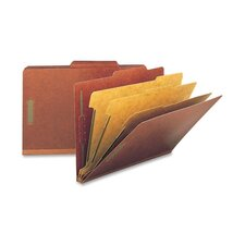 "Folders, Legal, 3 Partition, 3"" Expansion, Legal, Red/Gray"