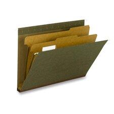 Hanging File Folder, C F Letter, 1/5 2Div Rec, 10/BX, SD/GN