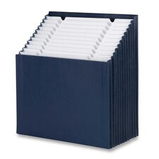 "Stadium File, 12-1/4""x13-5/8""x9-1/8"", 12 Pkt, Navy Blue"