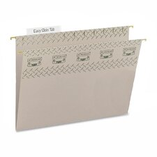 <strong>Smead Manufacturing Company</strong> Tuff Hanging Folder w/Easy Slide Tab, Letter, Green, 18/Pack