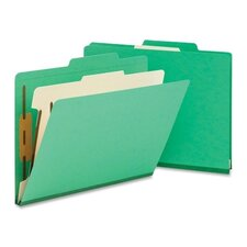<strong>Smead Manufacturing Company</strong> One Divider Top Tab Classification Folder, Four-Section, 10/Box