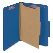 <strong>Smead Manufacturing Company</strong> Four-Section Pressboard Classification Folders, Letter, 10/Box