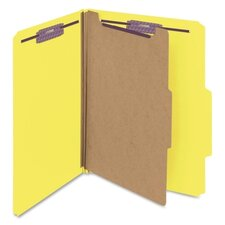 <strong>Smead Manufacturing Company</strong> Four-Section Pressboard Classification Folders, 10/Box