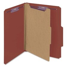 Pressboard Classification Self Tab Folders, 10/Box