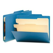 Classification Top Tab Folders, Two Dividers, 10/Box