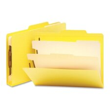 Two Dividers Classification Top Tab Folders, 10/Box