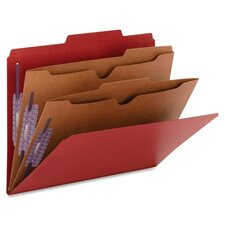 Two Pocket Dividers Pressboard Folders, 10/Box