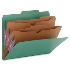 Two Pocket Dividers Pressboard Folders, Letter, 10/Box