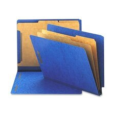 Six-Section Pressboard Classification End Tab Folder, Letter, 10/Box