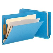 <strong>Smead Manufacturing Company</strong> Six-Section Colored End Tab Classification Folders, Letter, 10/Box