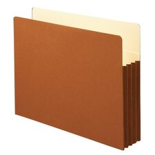 "3.5"" Accordion Expansion File Pocket, Straight Tab, 10/Box"