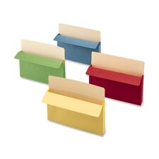 """3.5"""" Accordion Expansion Colored File Pocket, 25/Box"""